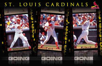 "St. Louis Cardinals ""Going Going Gone"" Poster (McGwire, Tatis, Edmonds) - Costacos 2000"