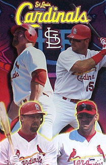 "Mark McGwire and Jim Edmonds ""St. Louis Bashers"" St. Louis Cardinals Poster - Starline 2001"