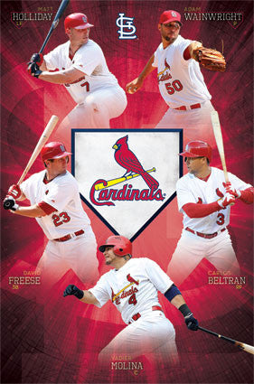 "St. Louis Cardinals ""Superstars"" MLB Action Poster - Costacos Sports 2013"