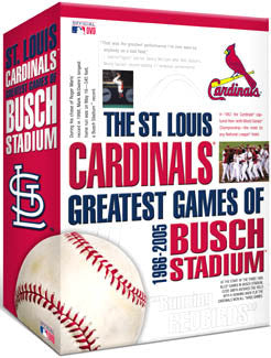 "DVD SET: St. Louis Cardinals ""Greatest Games of Busch"""
