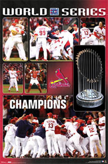 "St. Louis Cardinals 2006 World Series Champions ""Celebration"" Poster - Costacos Sports"