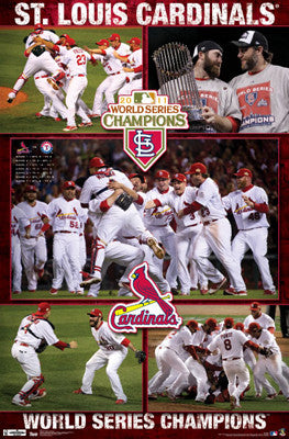 "St. Louis Cardinals ""World Series Celebration 2011"" Poster - Costacos Sports"