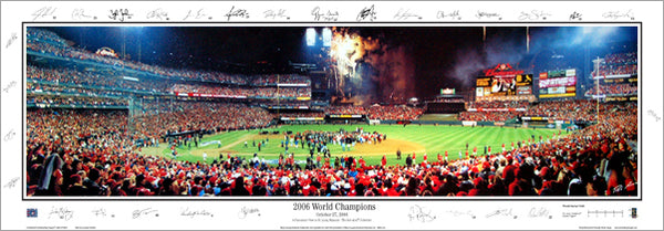 St. Louis Cardinals 2006 World Series Champions Panorama (w/29 Facs. Signatures)