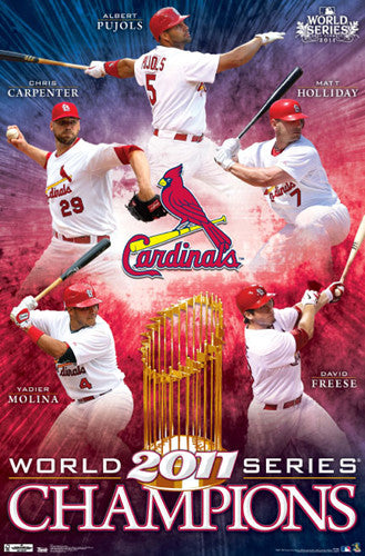 St. Louis Cardinals 2011 World Series Champions Commemorative Poster - Costacos Sports
