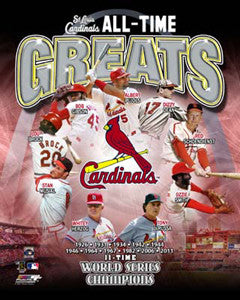 "St. Louis Cardinals ""All-Time Greats"" (9 Legends) Premium Poster Print - Photofile Inc."