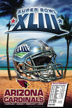 "Arizona Cardinals ""Super Season"" Super Bowl XLIII Commemorative Poster - Action Images 2009"