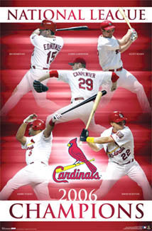 St. Louis Cardinals 2006 National League Champions Poster - Costacos Sports