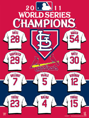 "St. Louis Cardinals 2011 WS ""Jerseys"" Commemorative Banner Flag - Wincraft 2011"