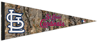 "St. Louis Cardinals ""Backwoods"" (Realtree) Premium MLB Felt Pennant - Wincraft"