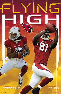 "Arizona Cardinals ""Flying High"" (Larry Fitzgerald, Anquan Boldin) Poster - Costacos 2007"