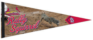 "St. Louis Cardinals ""Rally Squirrel"" Premium Felt Collector's Pennant - Wincraft"