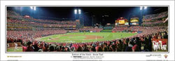 "St. Louis Cardinals ""Bottom of the 9th"" (WS Game 6/7) Busch Stadium Panoramic Print - Everlasting"