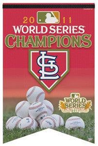 St. Louis Cardinals 2011 World Series Premium Felt Collector's Banner