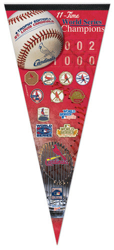 St. Louis Cardinals 11-Time World Champs EXTRA-LARGE Premium Pennant