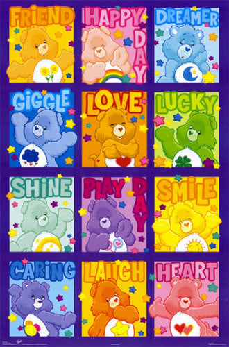 "The Care Bears ""Happy Dozen"" Children's Wall Poster - Trends International"