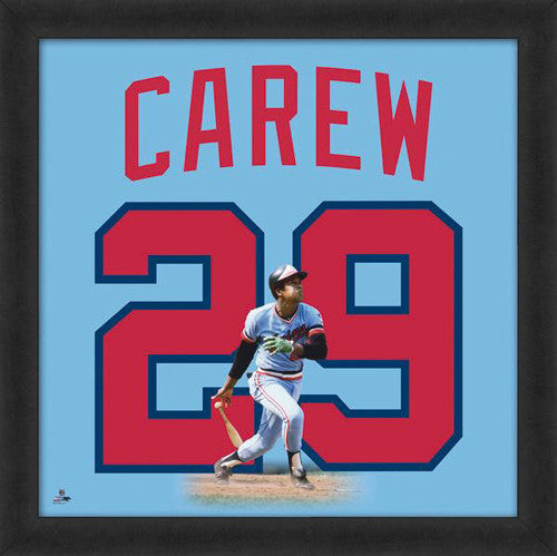 "Rod Carew ""Number 29"" Minnesota Twins FRAMED 20x20 UNIFRAME PRINT - Photofile"