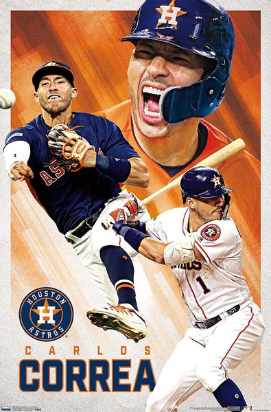 "Carlos Correa ""Passion"" Houston Astros MLB Baseball Poster - Trends International 2020"