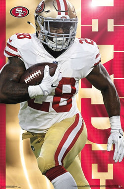 "Carlos Hyde ""Superstar"" San Francisco 49ers NFL Football Poster - Trends 2017"