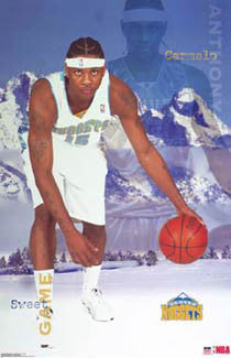 "Carmelo Anthony ""Sweet Game"" Denver Nuggets Rookie Poster - Starline 2003"