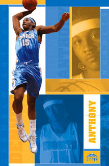 "Carmelo Anthony ""Superstar"" Denver Nuggets NBA Action Poster - Costacos 2005"
