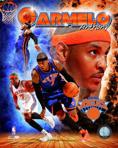 "Carmelo Anthony ""Inferno"" New York Knicks Premium Poster Print - Photofile 16x20"