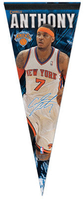 "Carmelo Anthony ""Signature"" Knicks 2012 Premium Felt Collector's Pennant - Wincraft"