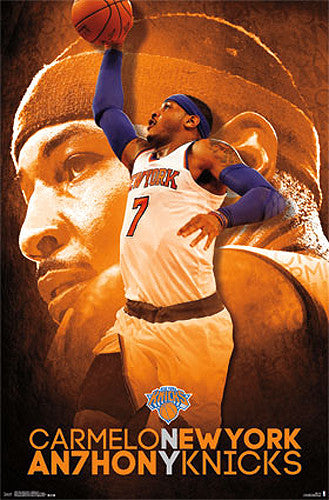 "Carmelo Anthony ""Superstar"" New York Knicks Official NBA Basketball Poster - Costacos 2015"