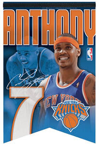 "Carmelo Anthony ""New York 7"" Premium Felt Banner - Wincraft Inc."