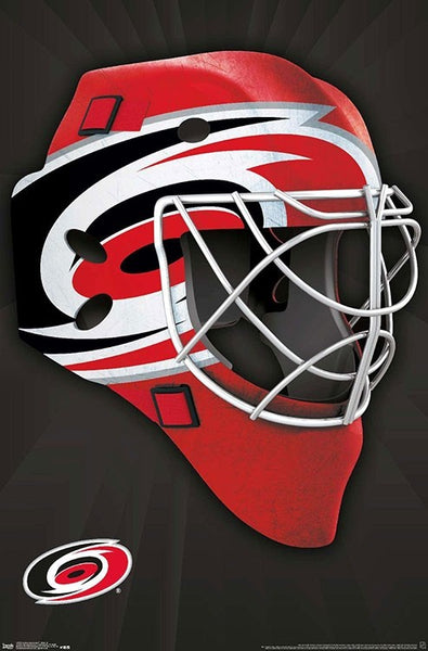 Carolina Hurricanes Official NHL Hockey Team Logo Mask Edition Wall Poster - Trends International