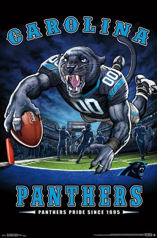 "Carolina Panthers ""Panthers Pride Since 1995"" NFL Theme Art Poster - Liquid Blue/Trends Int'l."
