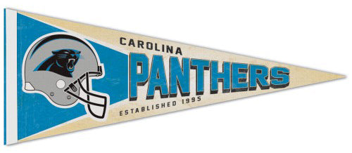 Carolina Panthers NFL Retro-1990s-Style Premium Felt Collector's Pennant - Wincraft Inc.