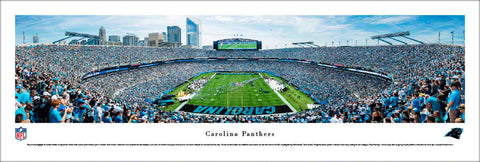 Carolina Panthers Bank of America Stadium Gameday Panoramic Poster Print - Blakeway 2017