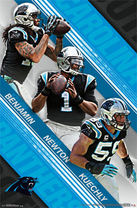 "Carolina Panthers ""Super Trio"" Poster (Benjamin, Newton, Kuechly) - Trends International 2015"