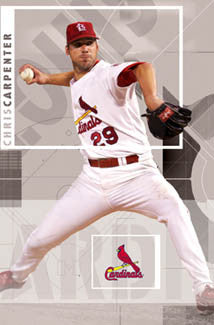 "Chris Carpenter ""Cy"" St. Louis Cardinals Poster - Costacos 2006"