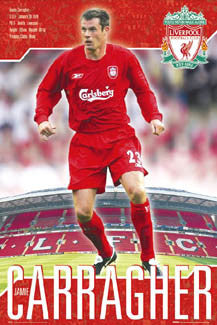 "Jamie Carragher ""Superstar"" Liverpool FC Poster - GB 2006"