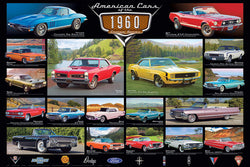American Cars of the 1960s (18 Classic Automobiles) Cruisin' Series Poster - Eurographics Inc.