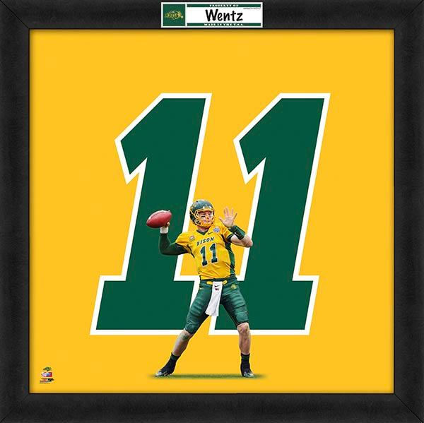 "Carson Wentz ""Number 11"" North Dakota State Bison NCAA FRAMED 20x20 UNIFRAME PRINT - Photofile"
