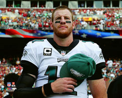 "Carson Wentz ""Patriot"" Philadelphia Eagles Premium NFL Poster Print - Photofile 16x20"
