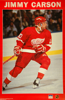 "Jimmy Carson ""Action"" Detroit Red Wings NHL Hockey Poster - Starline 1990"