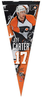 "Jeff Carter ""Action 17"" Premium Felt Pennant L.E. /2,009"