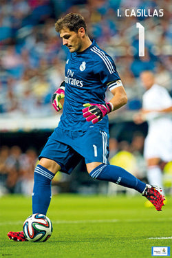 "Iker Casillas ""Game Night"" Real Madrid CF Official La Liga Soccer Poster - G.E. (Spain)"