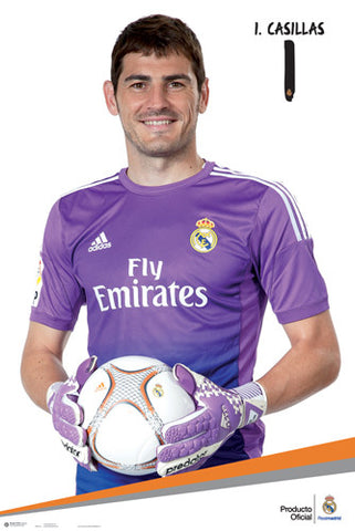 "Iker Casillas ""Superstar"" Real Madrid CF Official La Liga Soccer Poster - G.E. (Spain)"