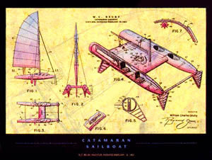 Catamaran Sailboat - Patent Poster Co. 2000