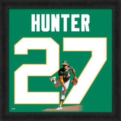 "Catfish Hunter ""Number 27"" Oakland A's MLB FRAMED 20x20 UNIFRAME PRINT - Photofile"