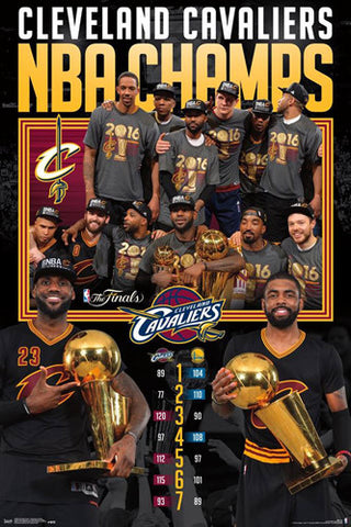 Cleveland Cavaliers 2016 NBA Finals CELEBRATION Commemorative Poster - Trends International