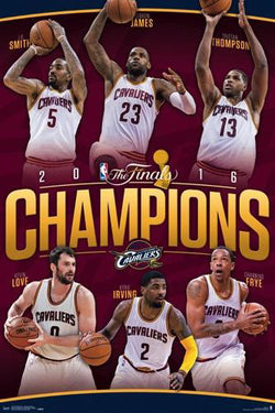 Cleveland Cavaliers 2016 NBA Champions Commemorative Poster - Trends Int'l.