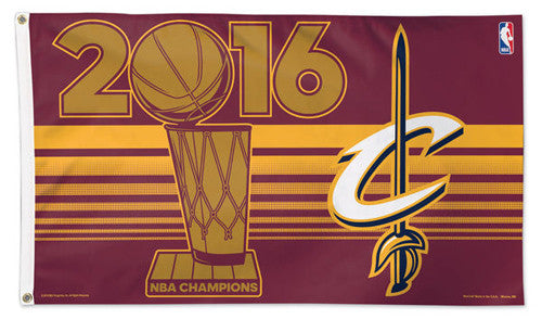 Cleveland Cavaliers 2016 NBA Champions Deluxe 3'x5' HUGE Banner Flag - Wincraft