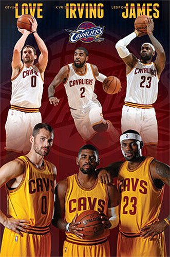 "Cleveland Cavaliers ""Super Trio"" Poster (LeBron James, Kevin Love, Kyrie Irving) - Costacos 2015"