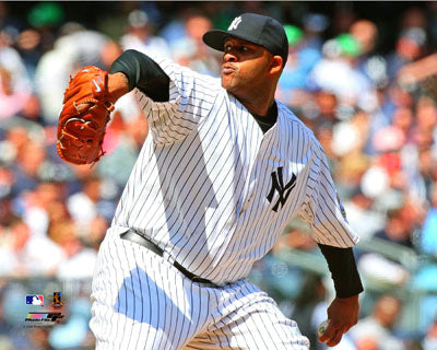 "CC Sabathia ""Pinstripes"" (2009) New York Yankees Premium Poster Print - Photofile 16x20"
