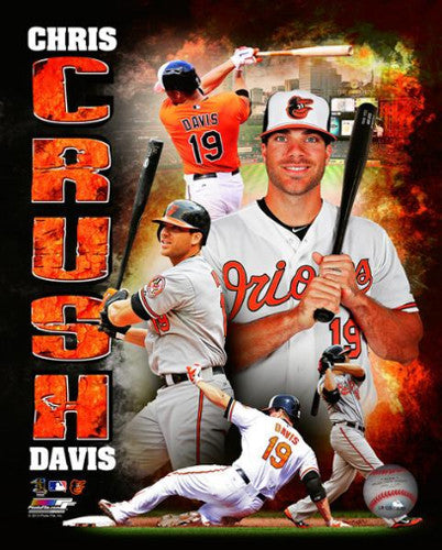 "Chris Davis ""CRUSH Davis"" Baltimore Orioles Premium Poster Print - Photofile 16x20"